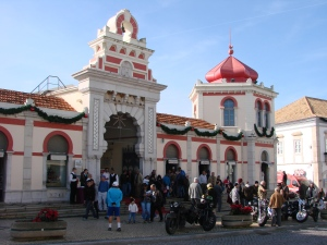 entrance of the market hall